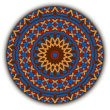 Ethnic Bright Round Mandala Pattern. Ornamental Background. Vector Floral Backdrop. Tribal Celtic Style Colorful Ornaments With Knots, Geometrical Shapes, Flowers. Beautiful Abstract Modern Design.