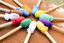Tambor Pow How Com Baquetas Coloridas