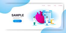 Doctors Team Examining Human Heart Medical Consultation Internal Organ Inspection Examination Treatment Cardiology Concept Horizontal Copy Space Full Length
