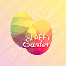 Happy Easter Eggs Made With Loe Poly Triangles