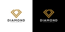Diamond Logo Vector Designs Mono Line