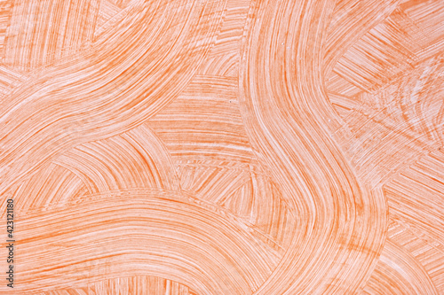Fototapeta Abstract art background light orange and white colors