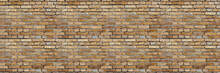 Panoramic Old Red Brick Wall Background