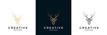 Deer Antler Logo And Icon Design Vector.