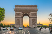Arc De Triomphe (Triumphal Arch) In Paris , France