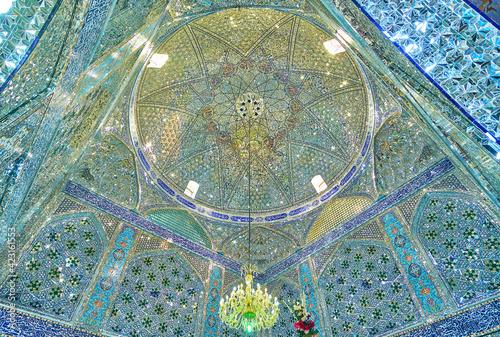 Tablou Canvas Beautiful cupola of Shahzade Fazel.Holy Shrine in Yazd, Iran