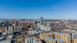 Leeds City Centre in Yorkshire, England looking north on a sunny day towards Bridgewater Place and the city centre with offices, apartments, hotels and retail