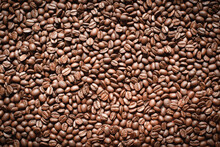 Popular Natural Food Products,freshly Roasted Arabica Coffee Beans Background.