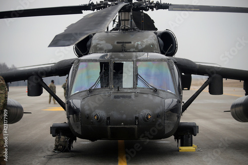 Valokuva UH-60 Black Hawk Helicopters, Karmelava Airport, Lithuania 25 03 2021
