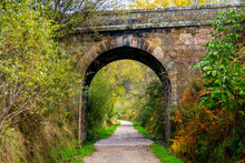 It's A Greenway Where A Train Used To Pass. I Passed Under This Stone Bridge.