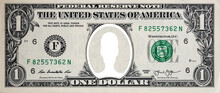 1 US Dollar Banknote With White Person Icon