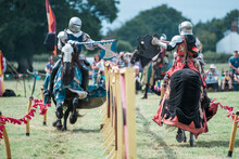 English Knights Jousting Tournament