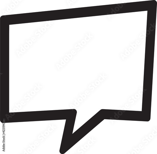 Blank speech bubble sign design Fototapeta