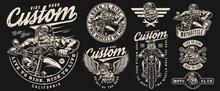 Vintage Motorcycle Monochrome Labels