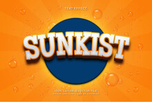 Sunkist Text Effect Style