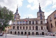 This Is A Medieval Building Of The City Hall In The Plaza Del Ayuntamiento.