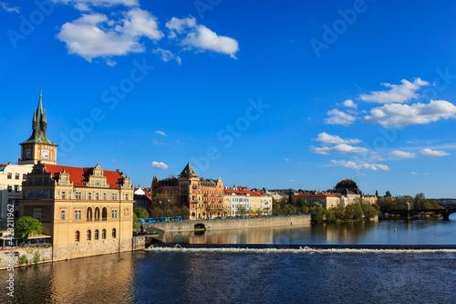 Papel de parede Prague Stare Mesto embankment view from Charles bridge