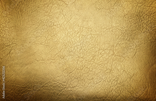 Fototapeta Gold gradient artificial leather texture background obraz