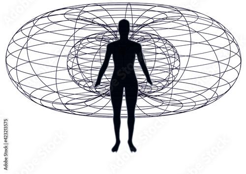 Slika na platnu silhouette of a person