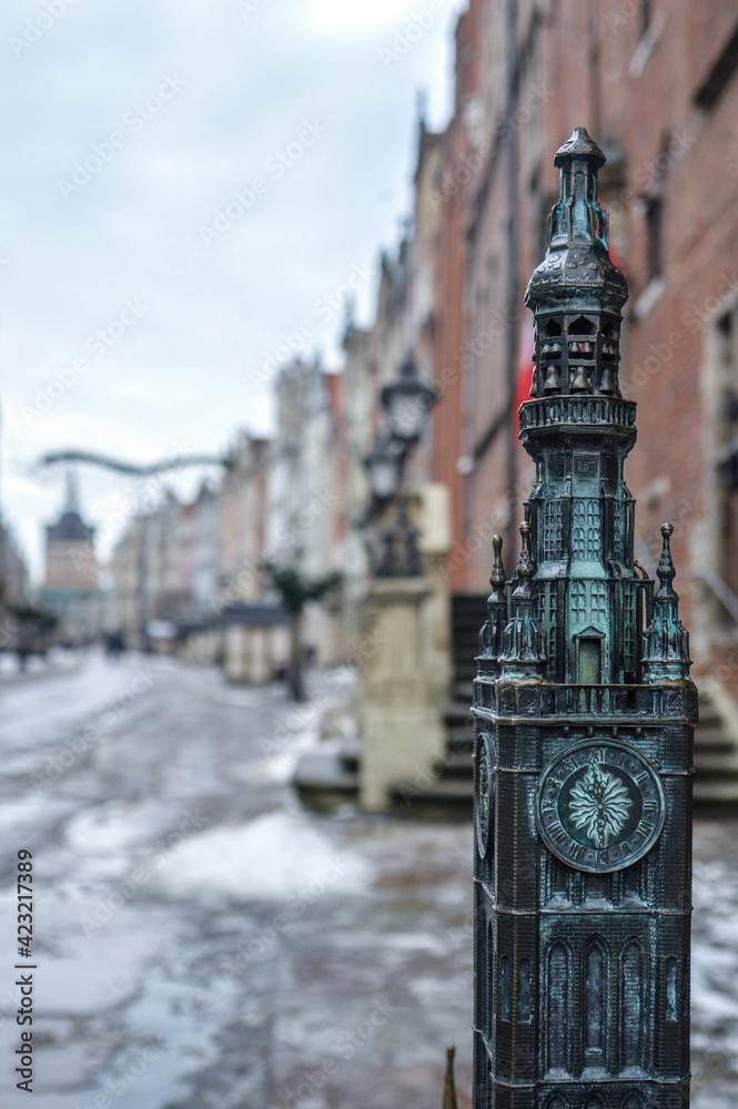 Fototapeta Gdańsk ratusz ulica Długa kamienice starówka