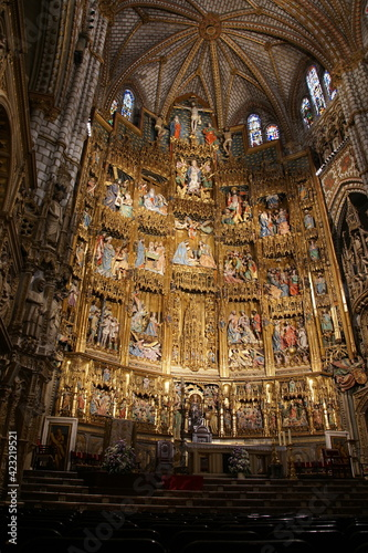 Fotografering Interior of Primate Cathedral of Saint Mary of Toledo