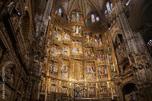Slika na platnu Interior of Primate Cathedral of Saint Mary of Toledo