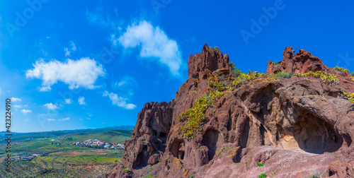 Fotografie, Tablou Cuatro puertas archealogical site at Gran Canaria, Canary islands, Spain