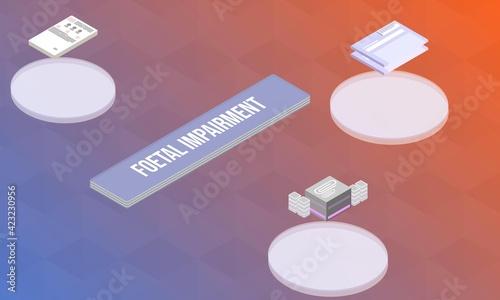 Obraz na płótnie Foetal impairment concept on abstract design