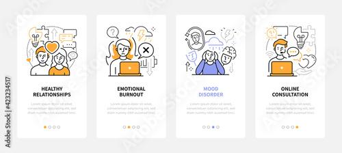 Obraz Psychology - modern line design style web banners - fototapety do salonu
