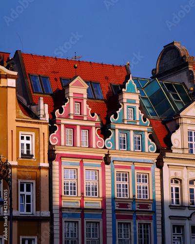 Fototapeta Kolorowe budynki na rynku starego miasta obraz