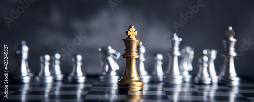 Fotografie, Obraz chess board game competition business concept