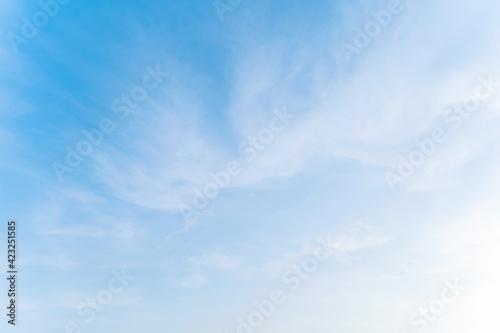 Fototapeta blue sky background with tiny clouds in Phuket Thailand obraz