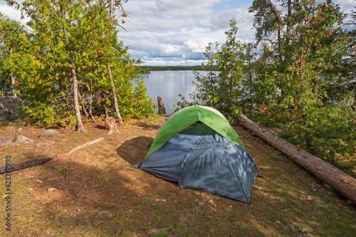 Vászonkép Campsite in the Great North Woods