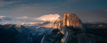 Yosemite, CA: A View Of Yosemite Valley And Half Dome From Glacier Point