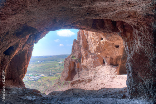 Tablou Canvas Cuatro puertas archealogical site at Gran Canaria, Canary islands, Spain