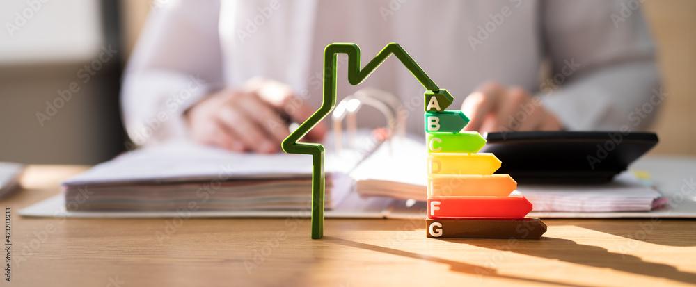 Fototapeta Energy Efficient House Building Audit