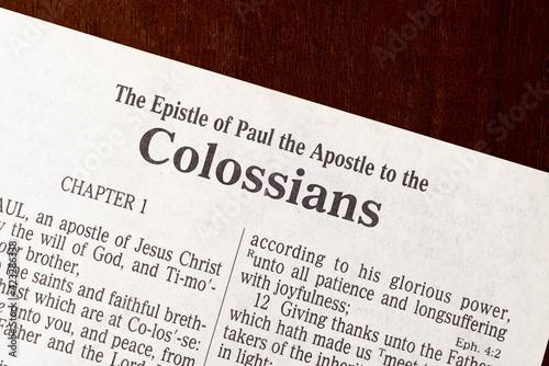 Fototapeta Colossians Title Page Close-Up