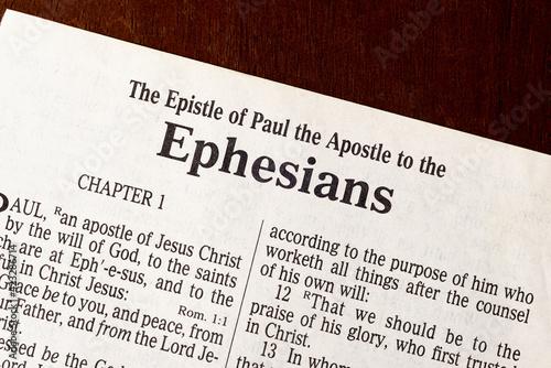 Obraz na plátne Ephesians Title Page Close-up
