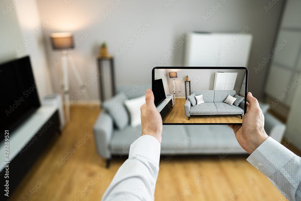 Fototapeta Virtual Open House Showing