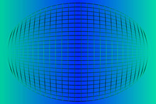 Vector Background With The Convex Grid. Blue To Green Gradient..