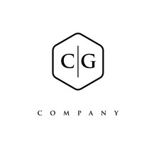 Initial CG Logo Design Vector
