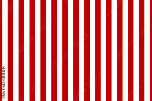 Obraz Vector seamless vertical stripes pattern, red and white. Simple background - fototapety do salonu