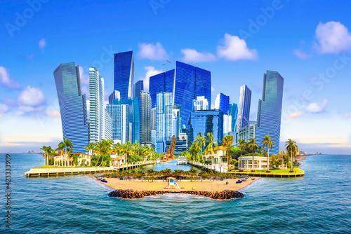 Fotografia, Obraz Collage about Ft. Lauderdale, Florida, United States
