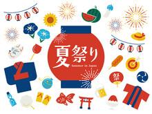 Japanese Summer Vector Icon 夏祭りアイコンセット