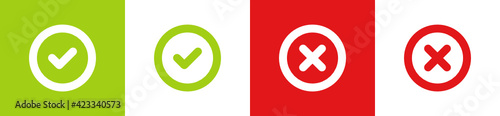 Yes no green and red icon vector illustration. Fototapet