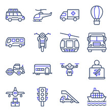 Pack Of Automobile Flat Icons