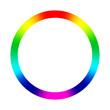 canvas print picture - Auf einem Kreis befinden sich die Farben des Regenbogens.