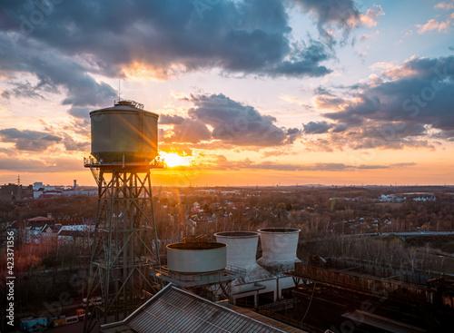 Bochum - Stahlwerk - Jahrhunderthalle - Wasserturm Fotobehang