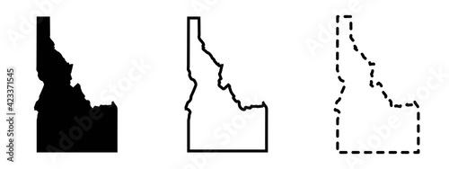 Fototapeta Idaho state isolated on a white background, USA map obraz