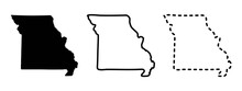 Missouri State Isolated On A White Background, USA Map